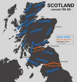 Scotland about 150 AD (click to enlarge)